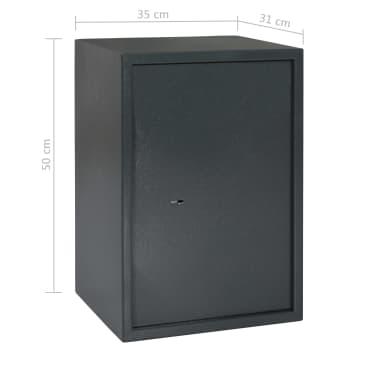 vidaXL Mechaninis seifas, tamsiai pilkas, 35x31x50cm, plienas[10/10]