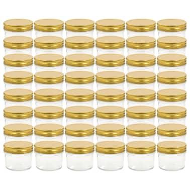 vidaXL Marmeladengläser mit goldenem Deckel 48 Stk. 110 ml[2/7]