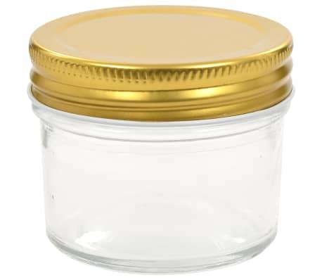 vidaXL Marmeladengläser mit goldenem Deckel 48 Stk. 110 ml[4/7]
