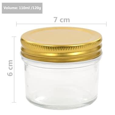 vidaXL Marmeladengläser mit goldenem Deckel 48 Stk. 110 ml[7/7]