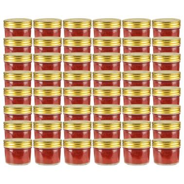 vidaXL Marmeladengläser mit goldenem Deckel 48 Stk. 110 ml[1/7]