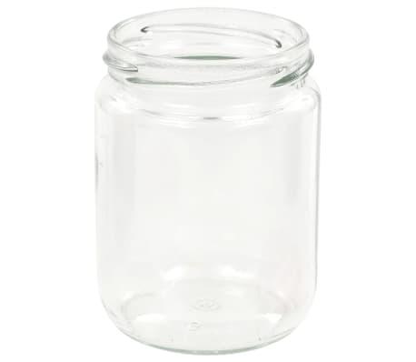 vidaXL Syltburkar i glas med vita och röda lock 48 st 230 ml[5/7]