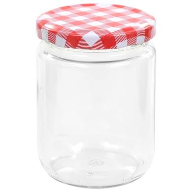 vidaXL Syltburkar i glas med vita och röda lock 96 st 230 ml[4/7]