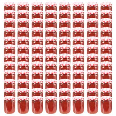 vidaXL Syltburkar i glas med vita och röda lock 96 st 230 ml[1/7]