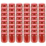 vidaXL Marmeladengläser mit Rotem Deckel 48 Stk. 230 ml