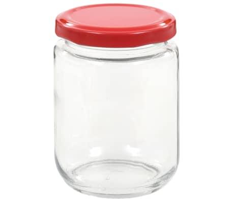 vidaXL Syltburkar i glas med röda lock 96 st 230 ml[4/7]