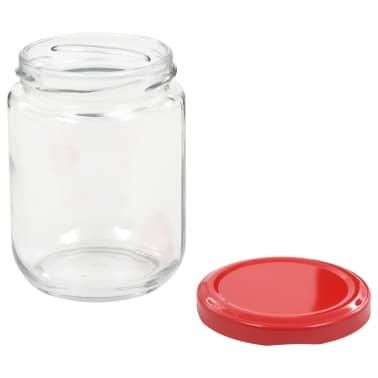 vidaXL Syltburkar i glas med röda lock 96 st 230 ml[5/7]