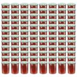 vidaXL Pots à confiture Couvercle blanc et vert 96 pcs Verre 400 ml