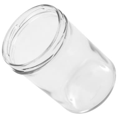vidaXL Borcane sticlă pentru gem, capace alb & violet, 24 buc., 400 ml[6/6]