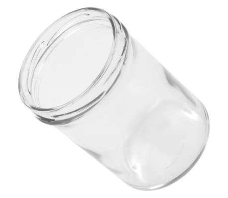 vidaXL Syltburkar i glas med vita och lila lock 48 st 400 ml[6/6]