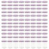 vidaXL Jampotten met wit met paarse deksels 96 st 400 ml glas