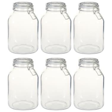 vidaXL Borcane din sticlă cu închidere ermetică, 6 buc., 3 L[1/5]
