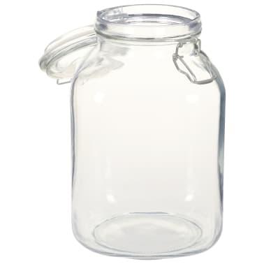 vidaXL Borcane din sticlă cu închidere ermetică, 12 buc., 3 L[4/5]
