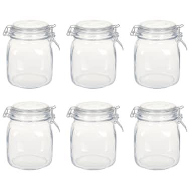 vidaXL Borcane din sticlă cu închidere ermetică, 6 buc., 1 L[1/5]