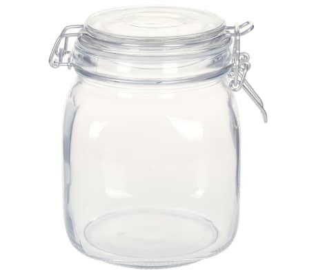 vidaXL Borcane din sticlă cu închidere ermetică, 12 buc., 1 L[2/5]