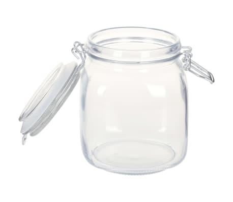 vidaXL Borcane din sticlă cu închidere ermetică, 12 buc., 1 L[4/5]