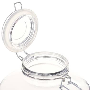 vidaXL Borcane din sticlă cu închidere ermetică, 6 buc., 5 L[6/7]