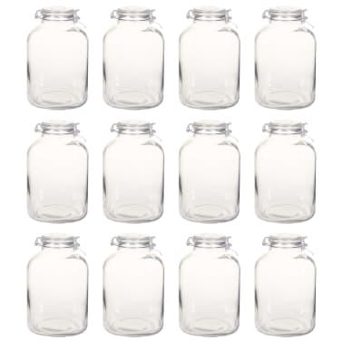 vidaXL Borcane din sticlă cu închidere ermetică, 12 buc., 5 L[2/7]
