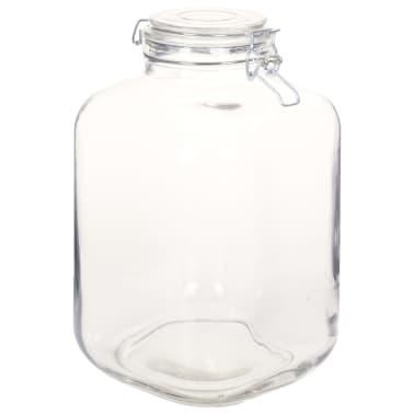 vidaXL Borcane din sticlă cu închidere ermetică, 12 buc., 5 L[4/7]