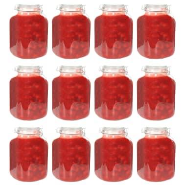 vidaXL Borcane din sticlă cu închidere ermetică, 12 buc., 5 L[1/7]