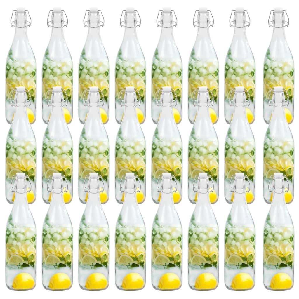 vidaXL Sticlă cu dop ermetic, 24 buc., 1 L poza 2021 vidaXL