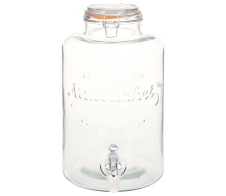 vidaXL Wasserspender XXL mit Zapfhahn Transparent 8 L Glas