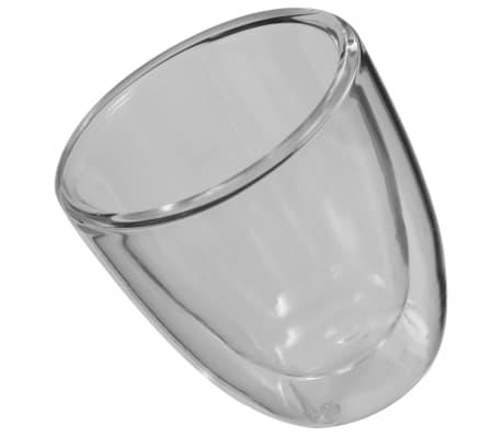 vidaXL Dvoustěnná termo sklenice na espresso 12 ks 80 ml[3/4]