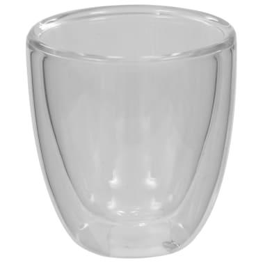 vidaXL Dvoustěnná termo sklenice na espresso 12 ks 80 ml[4/4]