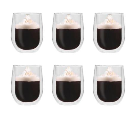 vidaXL Dvoustěnná termo sklenice na espresso 6 ks 320 ml[1/4]