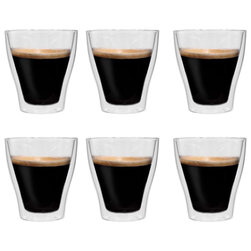 Dvoustěnná termo sklenice na latte macchiato 6 ks 280 ml