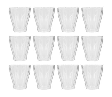 vidaXL Latte Macchiato-glas dubbelväggiga 12 st 280 ml