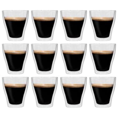 vidaXL Espressoglas dubbelväggiga 12 st 280 ml[1/4]