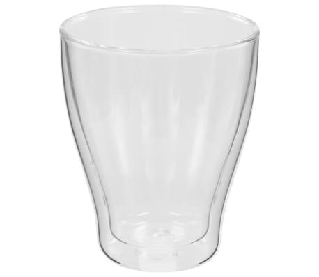 vidaXL Dvoustěnná termo sklenice na espresso 6 ks 370 ml[4/4]