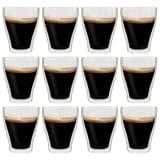 vidaXL Dobbeltveggede glass til Latte Macchiato 12 stk 370 ml