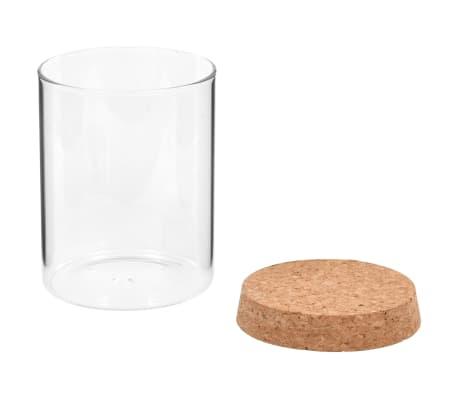 vidaXL Stikliniai indai su kamštiniais dangteliais, 6vnt., 650ml[4/5]