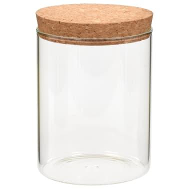 vidaXL Stikliniai indai su kamštiniais dangteliais, 6vnt., 650ml[3/5]