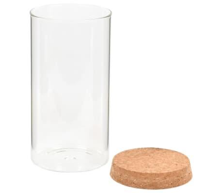 vidaXL Vorratsgläser mit Korkdeckel 6 Stk. 1100 ml[4/5]