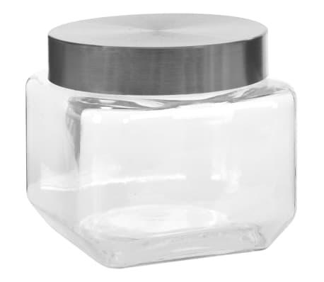 vidaXL Borcane depozitare, capac argintiu, 6 buc., 800 ml[2/5]