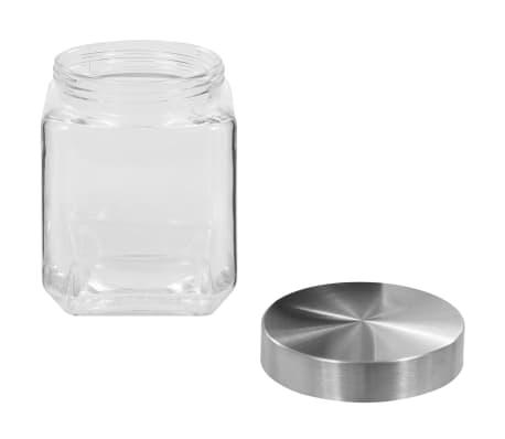 vidaXL Borcane depozitare, capac argintiu, 6 buc., 1200 ml[4/5]