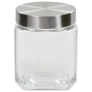 vidaXL Borcane depozitare, capac argintiu, 6 buc., 1200 ml[3/5]