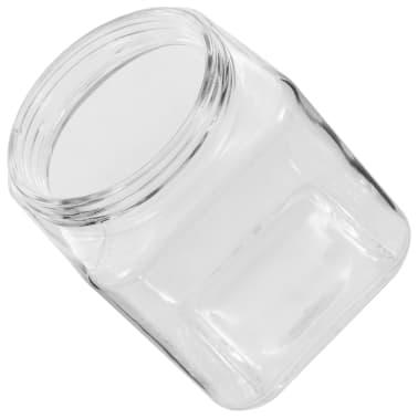 vidaXL Borcane depozitare, capac argintiu, 6 buc., 1200 ml[5/5]