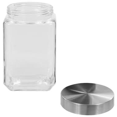 vidaXL Förvaringsburkar i glas med silvriga lock 6 st 1700 ml[4/5]