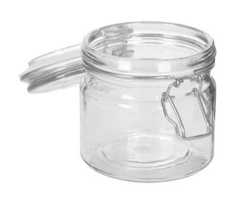 vidaXL Borcane depozitare, 6 buc., 500 ml, închidere clips[6/8]