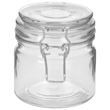 vidaXL Borcane depozitare, 6 buc., 500 ml, închidere clips[4/8]
