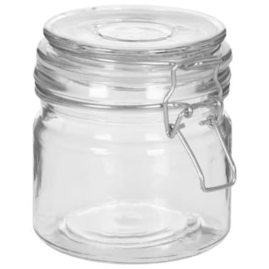 vidaXL Borcane depozitare, 6 buc., 500 ml, închidere clips[5/8]