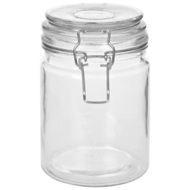vidaXL Borcane depozitare, 6 buc., 750 ml, închidere clips[4/8]