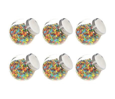 vidaXL Stikliniai indai saldainiams, 6vnt., 15,5x10,5x15cm, 1400ml[1/7]
