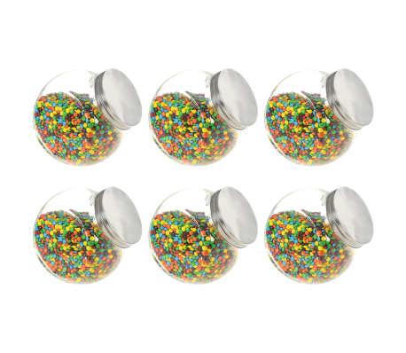 vidaXL Borcane pentru bomboane, 6 buc. 19,5 x 13,5 x 19,5 cm, 3000 ml[1/7]