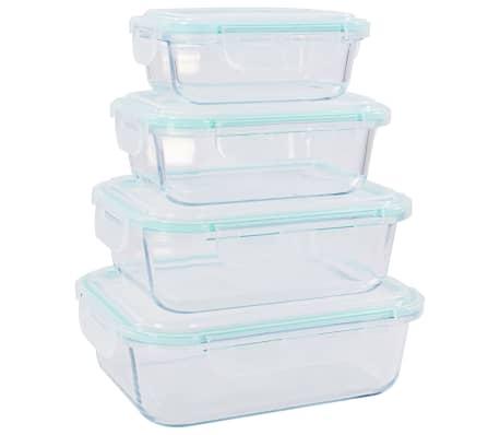vidaXL Recipiente de depozitare din sticlă pentru alimente, 8 piese[5/9]