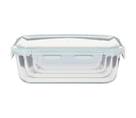 vidaXL Recipiente de depozitare din sticlă pentru alimente, 8 piese[6/9]